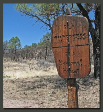 Gila wilderness sign
