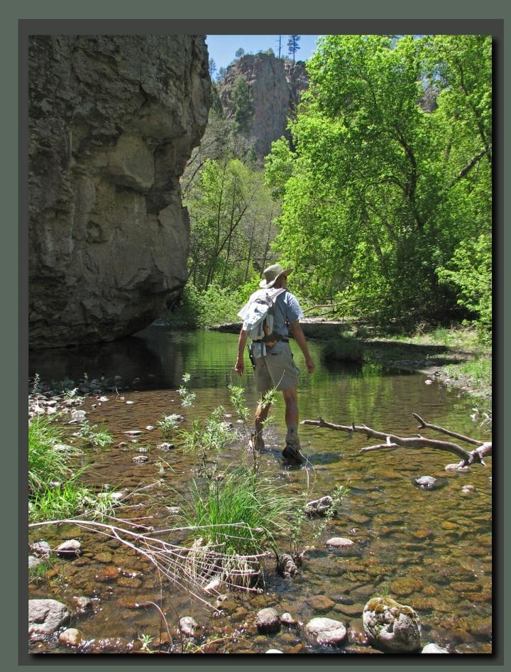 Hiking upriver
