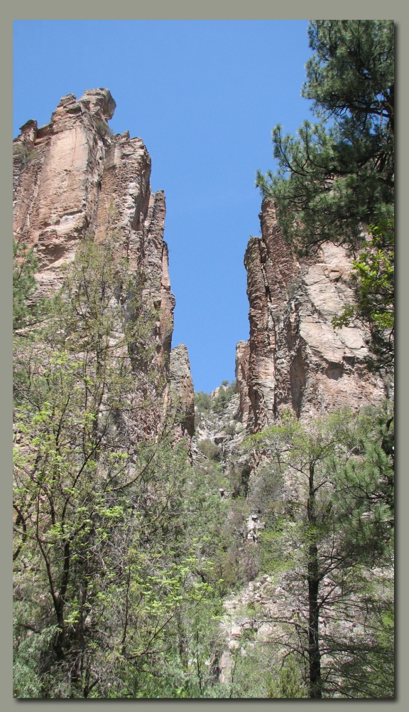 Steep canyon walls