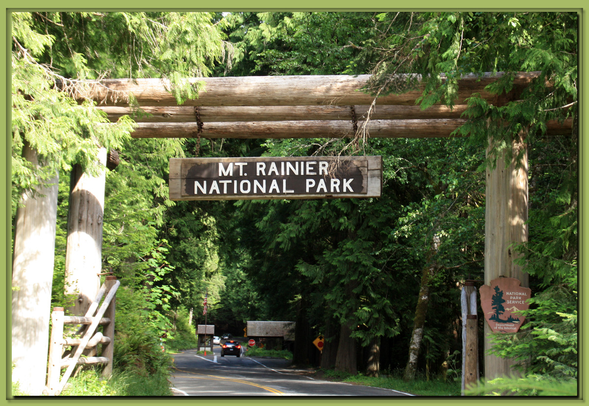 Nisqually entrance to mount rainier national park washington