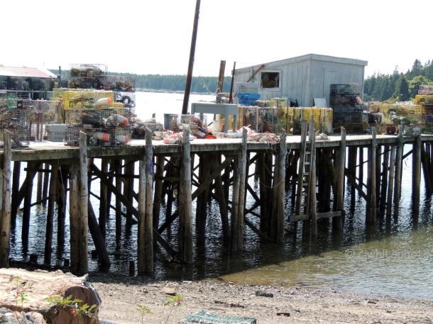 DSCN9959-low tide at lobster pier-Bass Harbor